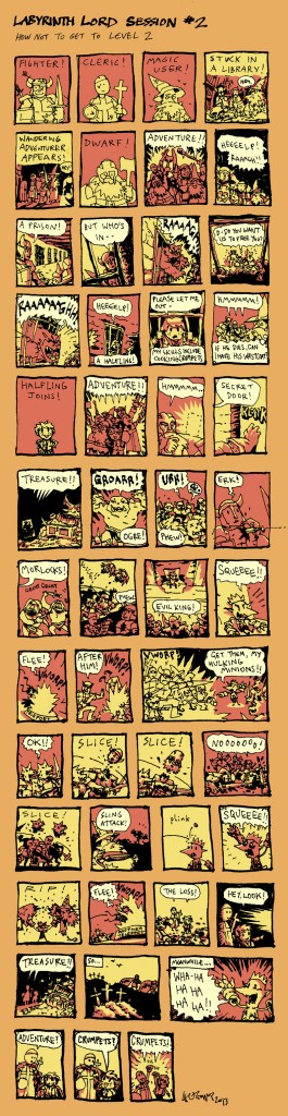 Labyrinth Lord Dungeons and Dragons Comic