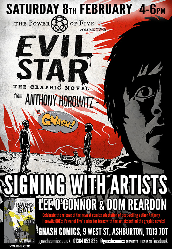 Power of Five: Evil Star Graphic Novel event poster
