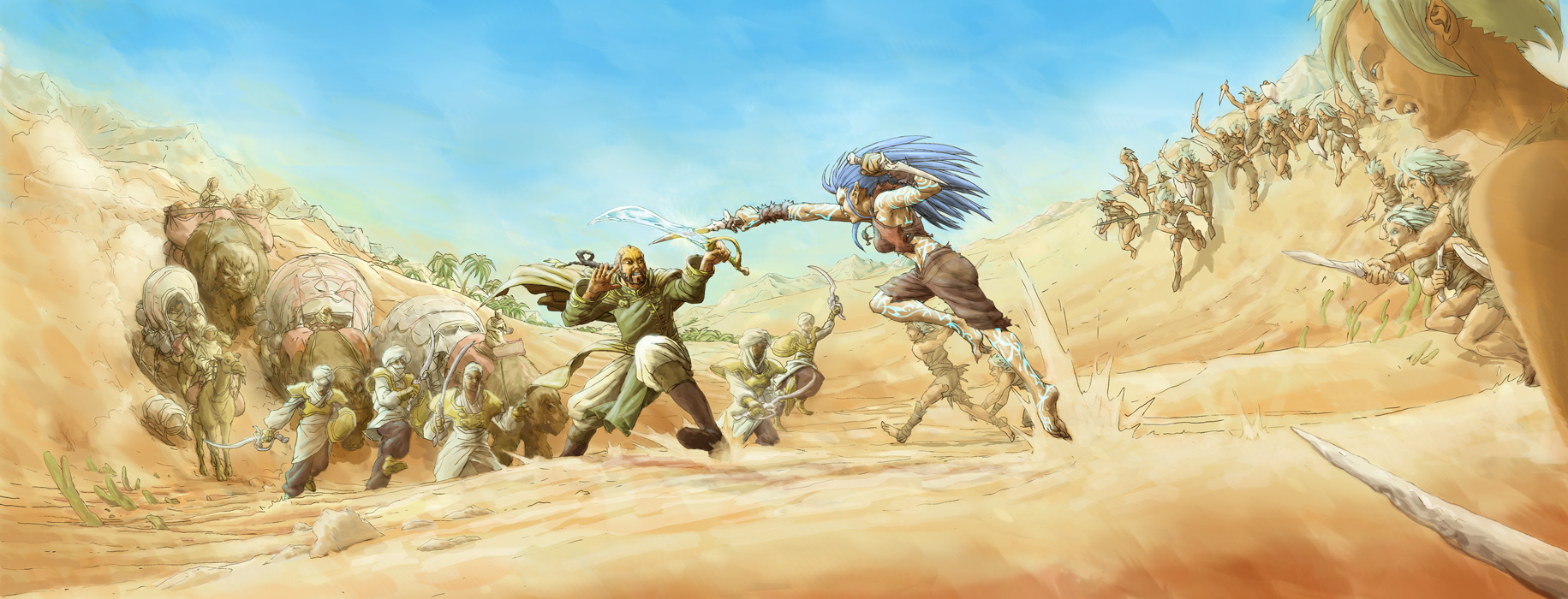 Exalted RPG 3rd Edition 'The South' setting illustration