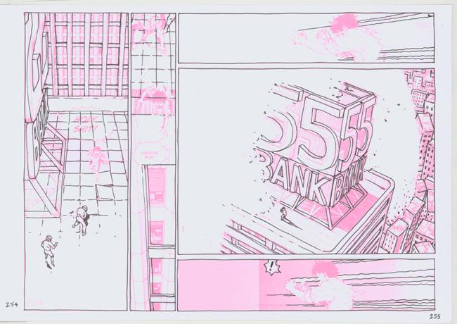 Bartkira drawings over Otomo Akira page