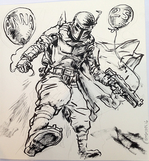 Dev-Con Plymouth Comic Convention sketch