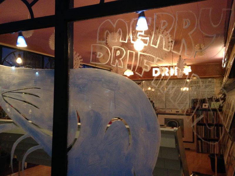 Drift Record Shop Robin Stylus Christmas window 2016