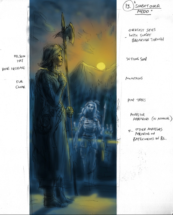 Exalted third edition EX3 RPG art workings