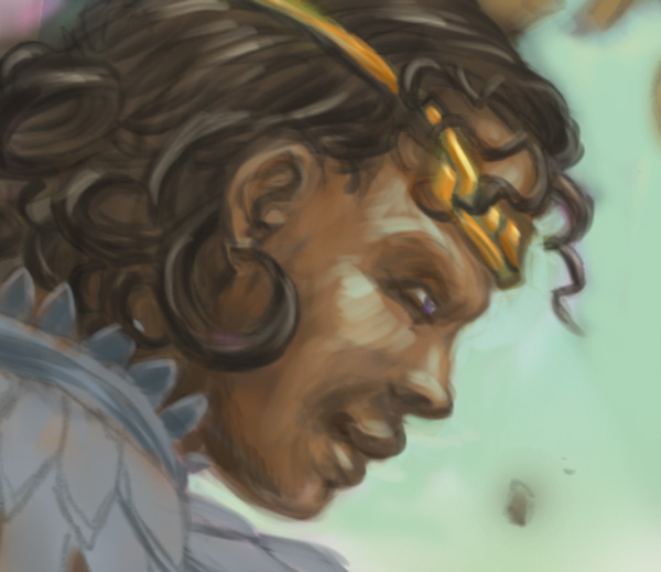 Exalted Third Edition illustration progress